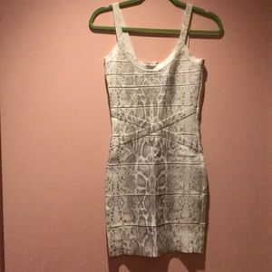 Silver & white bandage material dress